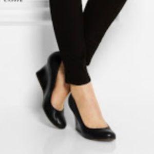 Lanvin Black Patent Leather Wedge 37.5